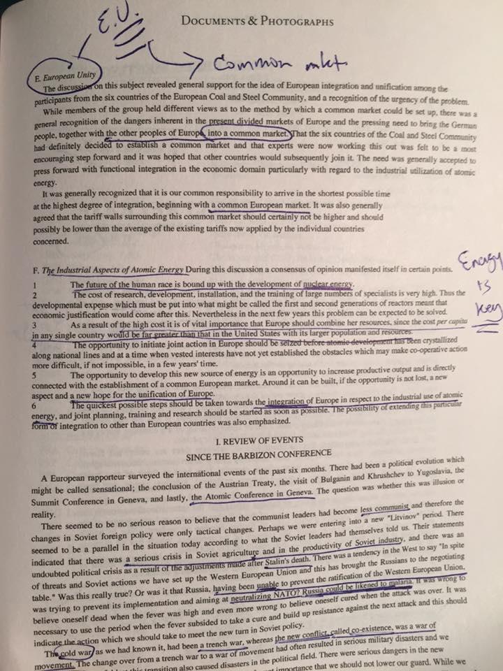 1955 Bilderberg document Nazi EU